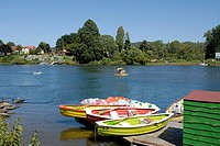Boats on the river Valdivia Chile