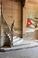 Havana  Cuba  Interior of run down mansion in Centro Habana