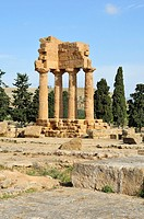 Agrigento  Sicily  Italy  Temple of the Dioscuri aka Temple of Castor & Pollux, Valley of the Temples archaeological site