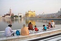 Hari Mandir Sahib ; Swarn Mandir Golden temple ; Amritsar ; Punjab ; India