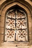 The ornamental door in Sangeet Mahal ; Bijapur ; Karnataka ; India