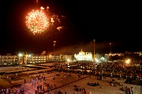 Firework at Sachkhand Saheb Gurudwara for 300th year of Consecration of perpetual Guru Granth Sahib on 30th October 2008 ; Nanded ; Maharashtra ; Indi...