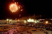 Firework at Sachkhand Saheb Gurudwara for 300th year of Consecration of perpetual Guru Granth Sahib on 30th October 2008 , Nanded , Maharashtra , Indi...