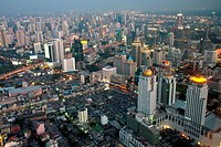 Aerial view of Bangkok from Baiyoke Sky Tower