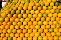 Fruits , cluster of oranges