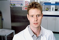 Portrait of a male scientist in lab setting