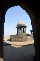 Samadhi of chhatrapati shivaji maharaj at fort Raigad , Maharashtra , India