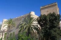 Castle walls Elche Elx, Altamira Castle, Province of Valencia, Spain, Europe