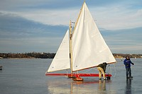 Ice yacht Regatta