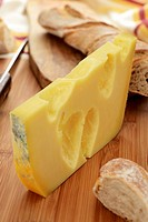 Emmental cheese and baguette