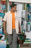 View of a man browsing a hardware store