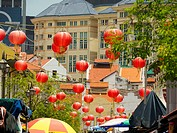 Chinese lanterns, Chinatown, Singapore