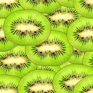 Seamless pattern of green kiwi slices
