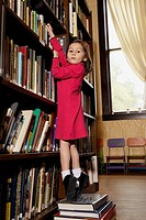 Young Girl in a Library