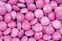 Pink Sugar Coated Candy Beans