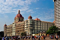 Taj Mahal hotel at Apollo bunder , Bombay Mumbai , Maharashtra , India