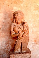Statue of mother and child in gujri mahal museum ; Gwalior ; Madhya Pradesh ; India