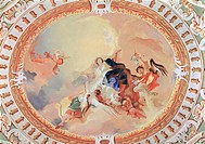 fine arts, Maulbertsch, Franz Anton, 1724 _ 1796, painting, altar fresco, detail, assumption, 1757 / 1758, fresco, Heiligenkreuz _ Gutenbrunn pilgrima...