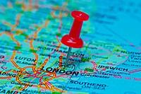 Thumbtack on map _ London