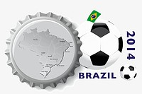Brazil 2014 _ Football illustration