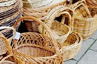 Woven baskets for sale, Wales