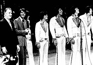 Vice President Spiro Agnew and the Osmonds. 'Young Voters of America' concert feature the wholesome Osmond family in a fund raising concert in Chicago...