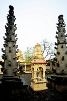 Deepstambh in khandoba temple , Velapur , Solapur , Maharashtra , India