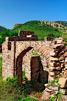 Ruin fort , Bhangarh , Rajasthan , India