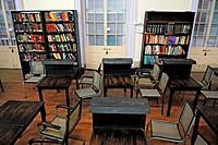 Book shelves in town hall , asiatic library Bombay Mumbai , Maharashtra , India