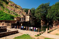 Somnath temple , Bhangarh , Rajasthan , India