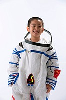 Boy wearing spacesuit