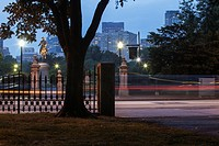 Boston Public Garden at dusk, Arlington Street, Boston, Massachusetts, USA