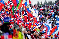 Fans during the men 15 km mass start race at the Biathlon World Championships in Nove Mesto na Morave, Czech Republic, Sunay, February 17, 2013 CTK Ph...