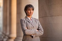 Black businesswoman outdoors