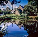 Rural cottage and pond Brittany France