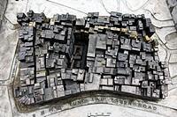 A scale model of the old Kowloon Walled City before it was demolised in 1994, Hong Kong