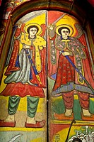 Colourful Wall Paintings, Bet Maryam Monastery, Lake Tana, Bahir Dar, Ethiopia