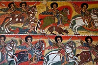 Colourful Wall Paintings, Ura Kidane Mihret Monastery, Lake Tana, Bahir Dar, Ethiopia