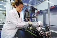 Researcher testing, Development of nanofibers by electrospinning, Industry, Tecnalia Research & innovation, Technology and Research Centre, Miramon Te...