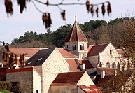 Tonw of France, Burgundy, Yonne, Sacy and its medieval atmosphere with a fortified church, village of birth of the famous french writer Retif de la Br...