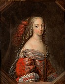 MADAME THE MARQUISE DE MONTESPAN 1640_1707, NEE FRANCOISE ATHENAIS DE ROCHECHOUART DE MORTEMART, THE FAVORITE OF KING LOUIS XIV, ENGRAVING EXHIBITED I...