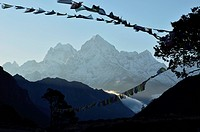 Asia, Nepal, View of Chamunaparo Danda from Sagarmatha National Park