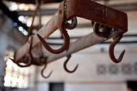 MEAT HOOK, THE DISUSED CASABLANCA SLAUGHTERHOUSES, URBAN WASTELAND OF REINFORCED CONCRETE, THE LEGACY OF MARECHAL LYAUTEY, MOROCCO