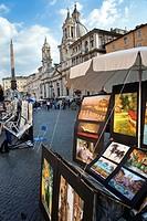Day life in Navona Square, Rome, Lazio, Italy.
