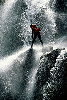CANYONING IN THE CANYON OF THE RIOU, THE VERDON REGIONAL NATURE PARK, ALPES DE HAUTE_PROVENCE 04, FRANCE