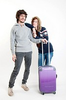 young people with a suitcase