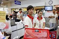 Supermarket in Phnom Penh, Cambodia.
