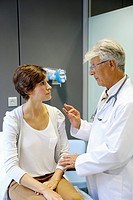 Doctor with patient, Consulting room, Onkologikoa Hospital, Oncology Institute, Case Center for prevention, diagnosis and treatment of cancer, Donosti...