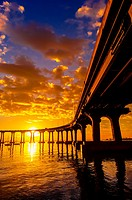 Coronado Bridge at sunrise, Coronado Island San Diego, California USA
