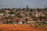 Africa, Uganda, East Africa, black continent, pearl of Africa, Great Rift villages of houses, poverty, slum,